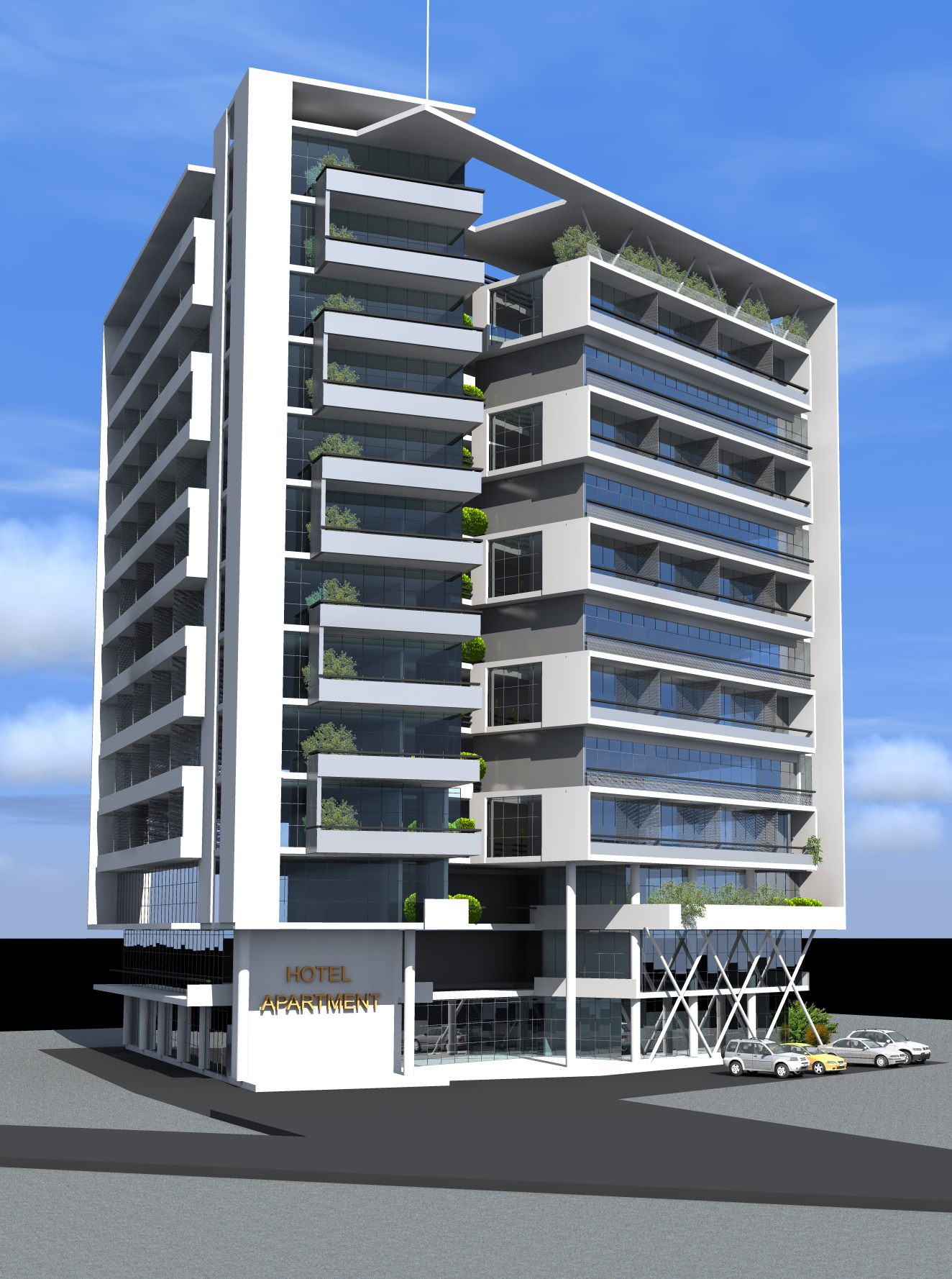Uncategorized hotel facade design englishsurvivalkit for Hotel apartment design